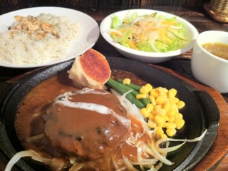 横浜駒岡 斎藤精肉店のハンバーグ