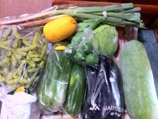 野菜市の戦果