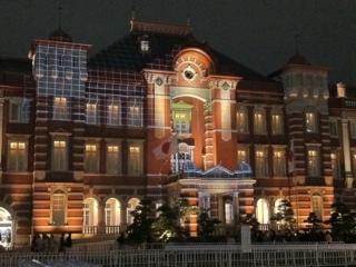 東京駅舎マッピング準備中?