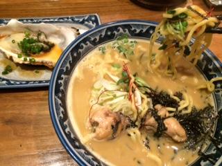 錦糸町 麺や佐市の牡蠣拉麺